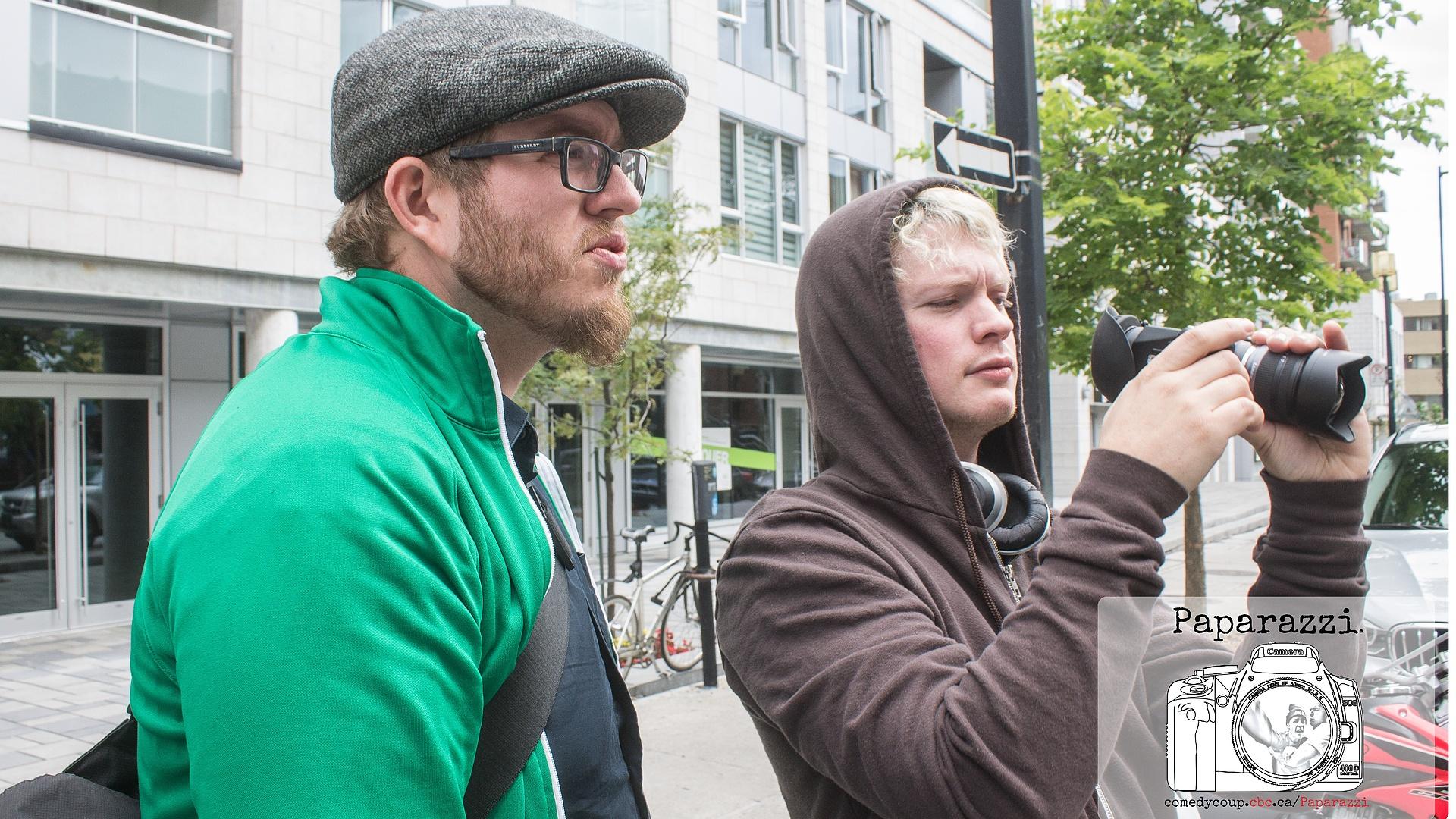 Reese and Ryan Blocking on Set