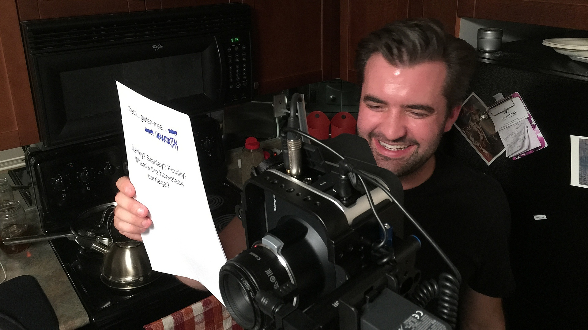 Andrew the High-Tech Teleprompter