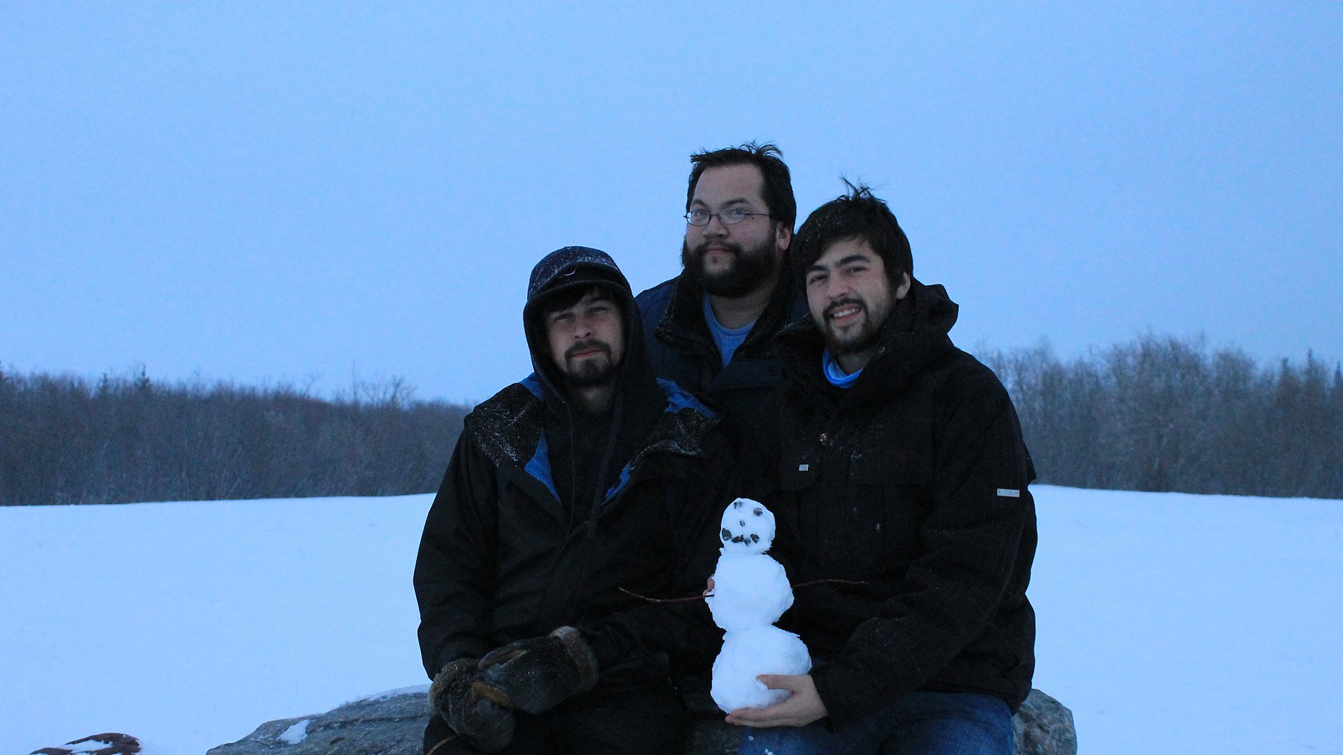 Inuvik Comedy posing in the cold
