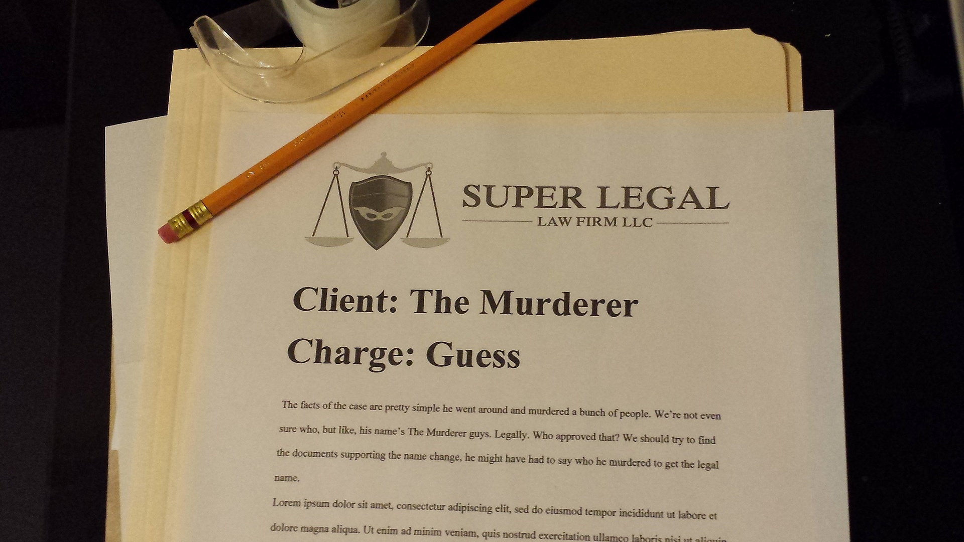 Super Legal Stationery