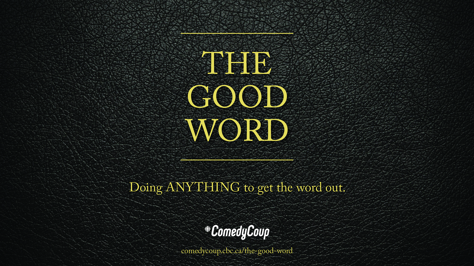 Week 4 Key It: Poster A The Good Word