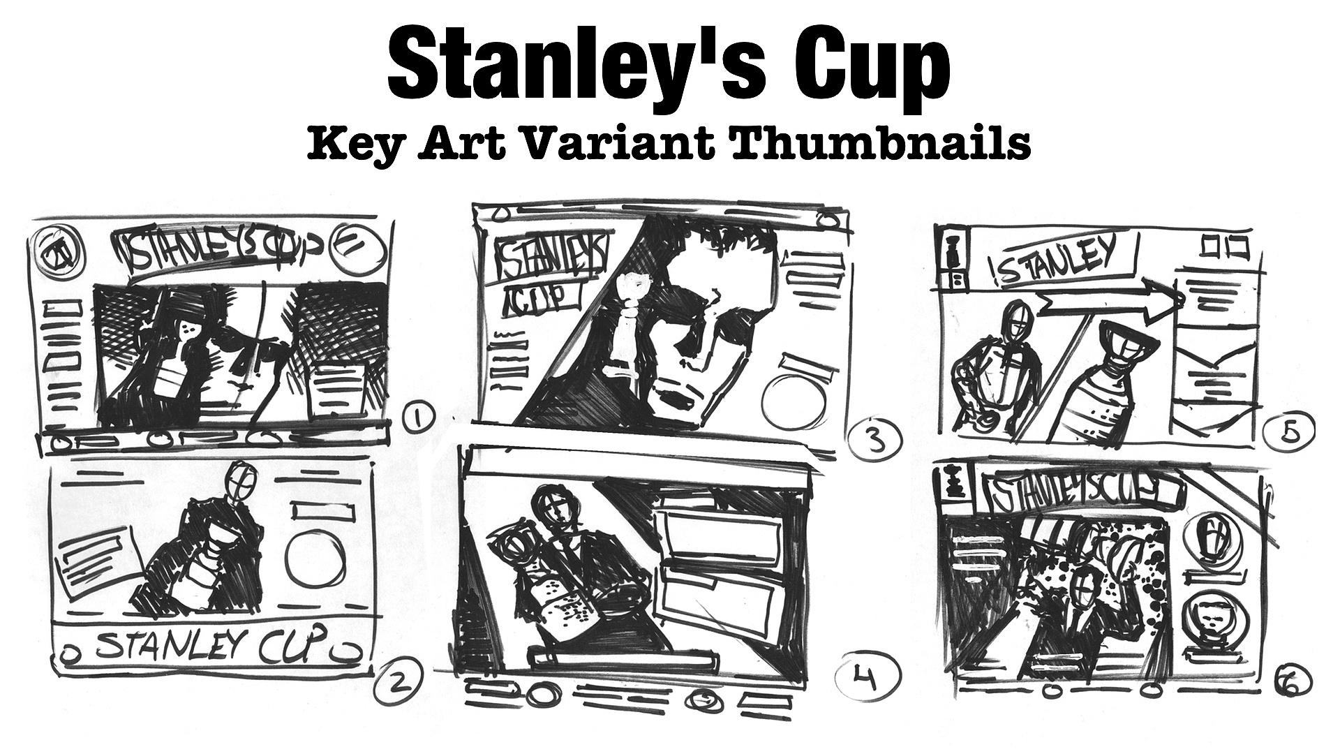 Key Art Variant Thumbnail Sketches