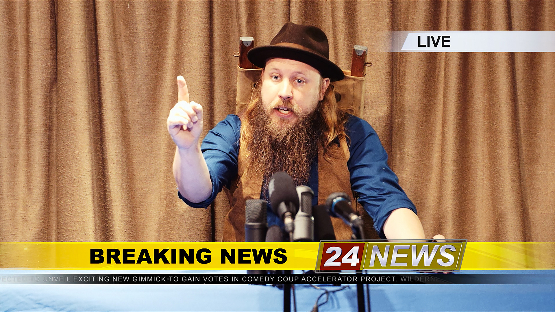 Wilderness Man press conference