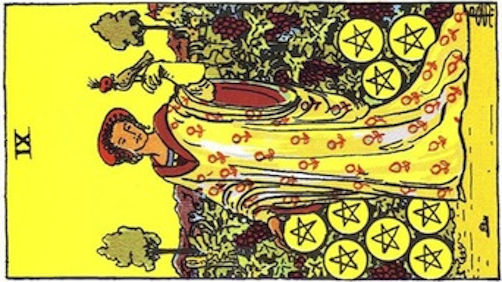 The Nine of Pentacles