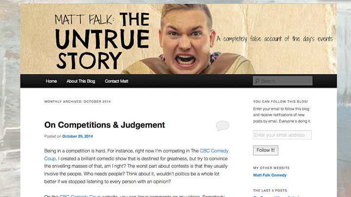 Untrue Story - Blog entry - Oct29