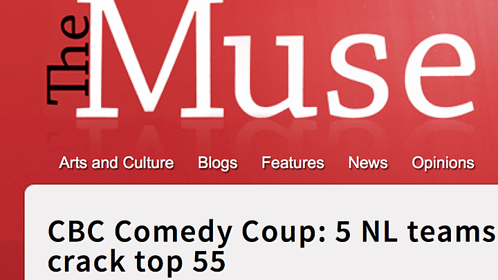 CBC Comedy Coup: 5 NL teams crack top 55