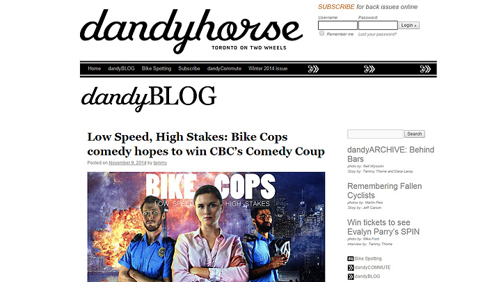 dandyBLOG with the Bike Cops